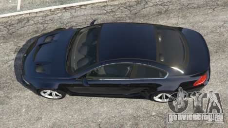 BMW M6 (E63) WideBody v0.1 для GTA 5 вид сзади