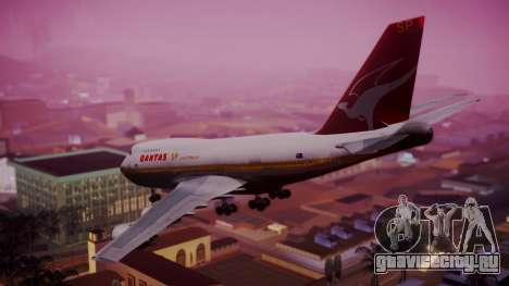 Boeing 747SP Qantas Gold для GTA San Andreas вид слева