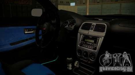 Subaru Impreza 2004 для GTA San Andreas вид справа