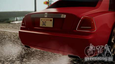 Rolls-Royce Ghost v1 для GTA San Andreas вид сзади