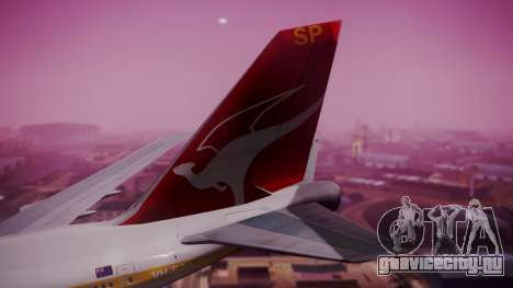 Boeing 747SP Qantas Gold для GTA San Andreas вид сзади слева