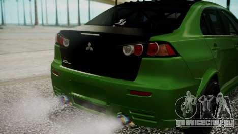 Mitsubishi Lancer Evolution X WBK для GTA San Andreas вид сбоку