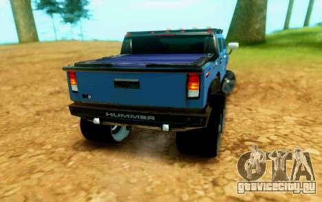 Hummer H6 для GTA San Andreas вид сзади слева