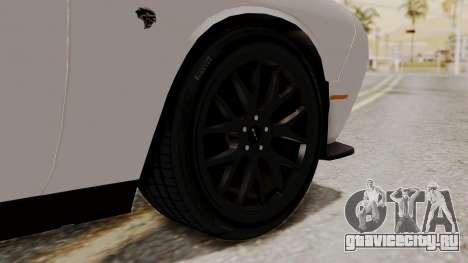 Dodge Challenger SRT Hellcat 2015 HQLM PJ для GTA San Andreas вид сзади слева