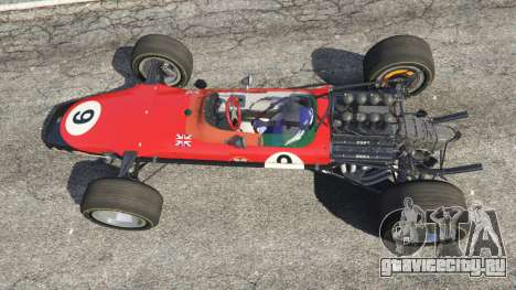 Lotus 49 1967 [no ailerons] для GTA 5 вид сзади