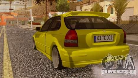 Honda Civic Taxi для GTA San Andreas вид слева