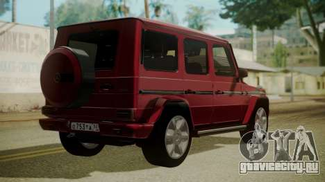 Mercedes-Benz G350 Bluetec для GTA San Andreas вид слева