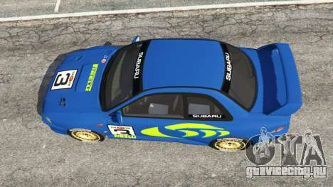Subaru Impreza WRC 1998 для GTA 5 вид сзади