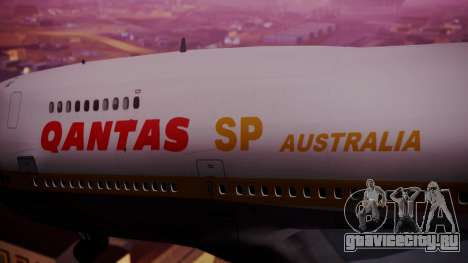 Boeing 747SP Qantas Gold для GTA San Andreas вид справа