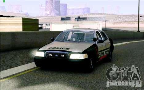 Weathersfield Police Crown Victoria для GTA San Andreas