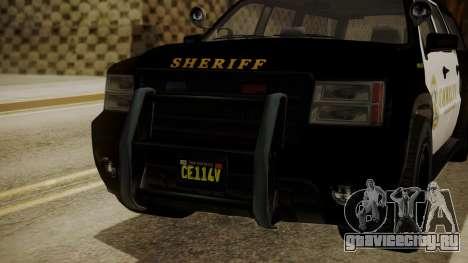 GTA 5 Declasse Granger Sheriff SUV для GTA San Andreas вид сзади