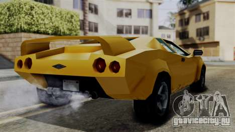 Infernus from Vice City Stories для GTA San Andreas вид справа