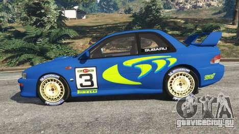 Subaru Impreza WRC 1998 для GTA 5 вид слева