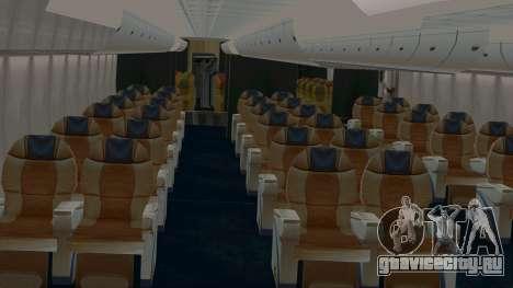 Airbus A380-800 British Overseas Airways Corp. для GTA San Andreas вид изнутри