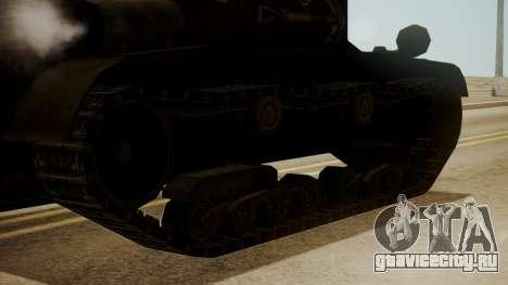 T2 Light Tank для GTA San Andreas вид сзади слева