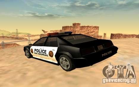Полицейский четырёхдверный Buffalo для GTA San Andreas вид слева