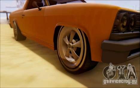 Шеваль Пикадор Серфер для GTA San Andreas вид изнутри