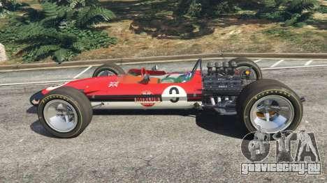 Lotus 49 1967 [no ailerons] для GTA 5 вид слева