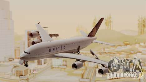 Airbus A380-800 United Airlines для GTA San Andreas