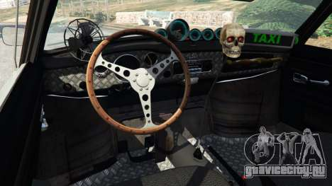 Volkswagen Karmann-Ghia Typ 14 для GTA 5 вид сзади справа