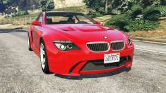 BMW M6 (E63) WideBody v0.1 [red] для GTA 5