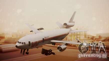 DC-10-10 Western Airlines для GTA San Andreas