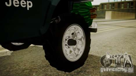 Jeep Willys Cafetero для GTA San Andreas вид сзади слева