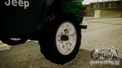 Jeep Willys Cafetero для GTA San Andreas вид сзади слева