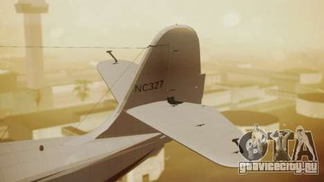 Grumman G-21 Goose NC327 Cutter Goose для GTA San Andreas вид сзади слева