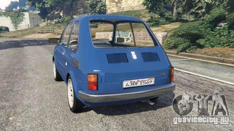 Fiat 126p v1.1 для GTA 5 вид сзади слева