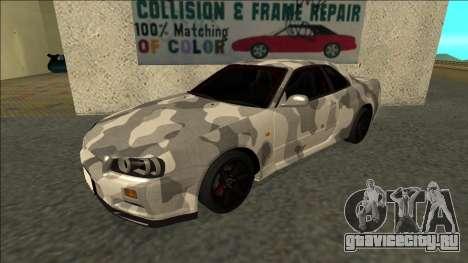 Nissan Skyline R34 Army Drift для GTA San Andreas