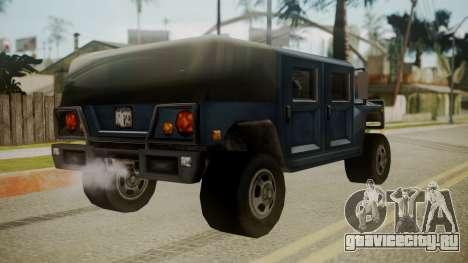 Patriot III для GTA San Andreas вид слева