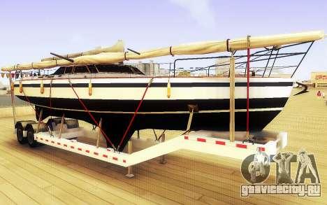 GTA V Big Boat Trailer для GTA San Andreas