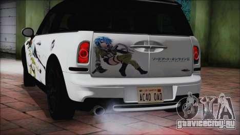 Mini Cooper Clubman 2011 Itasha для GTA San Andreas вид справа