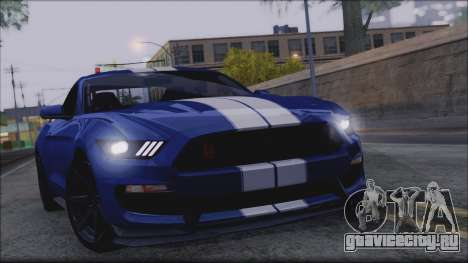 Ford Mustang Shelby GT350R 2016 для GTA San Andreas вид снизу