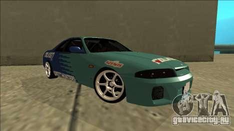 Nissan Skyline R33 Drift Falken для GTA San Andreas вид справа