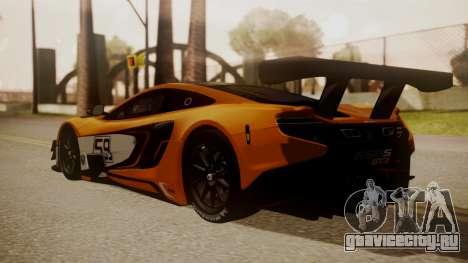McLaren 650S GT3 2015 для GTA San Andreas вид слева