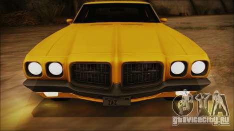 Pontiac Lemans Hardtop Coupe 1971 IVF АПП для GTA San Andreas вид сбоку