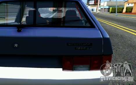 Ваз 2108 V1 для GTA San Andreas вид сзади