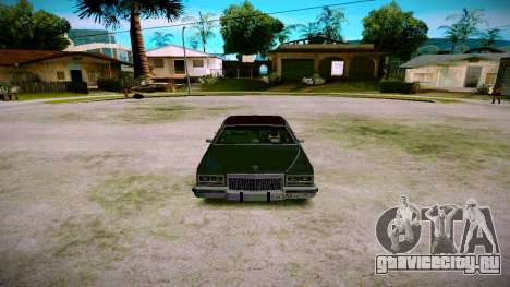 Cadillac Fleetwood Brouhman 1985 для GTA San Andreas вид сзади