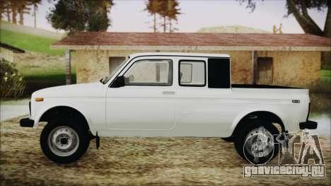 ВАЗ 2329 Нива 4x4 для GTA San Andreas вид сзади слева