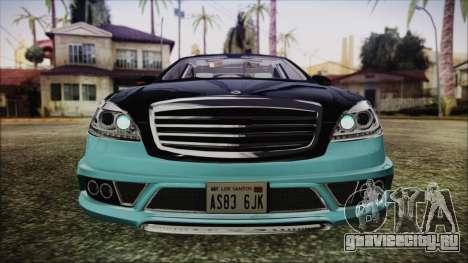 Carlsson Aigner CK65 RS v1 Headlights для GTA San Andreas вид изнутри