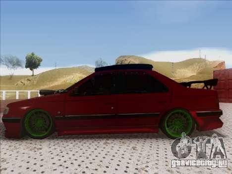 Peugeot Pars Full Sport для GTA San Andreas вид сзади слева