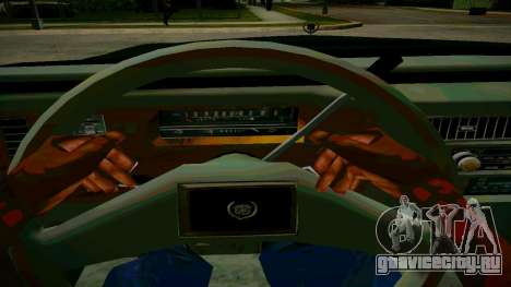 Cadillac Fleetwood Brouhman 1985 для GTA San Andreas вид изнутри