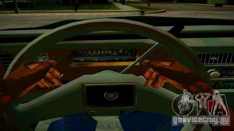 Cadillac Fleetwood Brouhman 1985 для GTA San Andreas вид изнутри