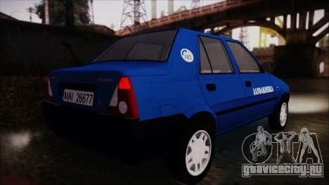Dacia Solenza Jandarmeria для GTA San Andreas вид слева