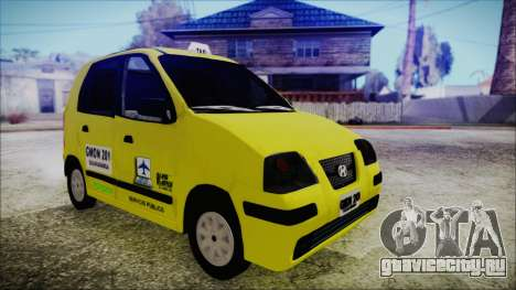 Hyundai Atos Taxi Colombiano для GTA San Andreas вид сзади слева