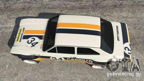 Ford Escort MK1 v1.1 [Carrillo] для GTA 5 вид сзади