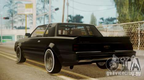 GTA 5 Faction Stock DLC LowRider для GTA San Andreas вид сзади слева
