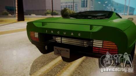 Jaguar XJ220 1992 IVF АПП для GTA San Andreas вид справа